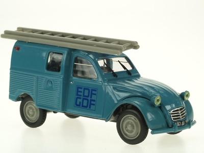 "Citroen 2CV Furgoneta ""EDF-GDF"" (1965) Norev-Hachette 1/43"