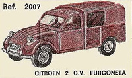 Citroen 2CV Furgoneta Nacoral 1/43