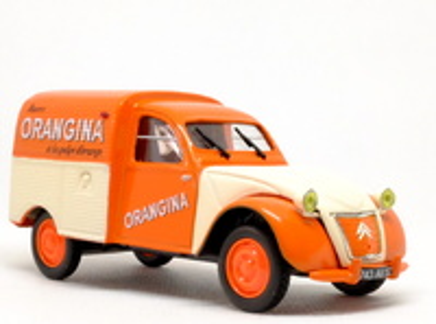 Citroen 2CV Furgoneta Orangina (1955) Norev-Hachette 1/43