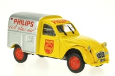 """Citroen 2CV Furgoneta """"Philips"""" (1962) Norev-Hachette 1/43"""