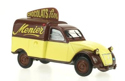 "Citroen 2cv Furgoneta ""Chocolats Menier"" Norev-Hachette 1/43"
