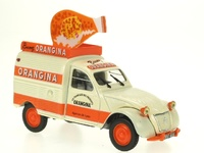 "Citroen 2cv Furgoneta ""Orangina c/botella techo"" (1956) Norev-Hachette 1/43"