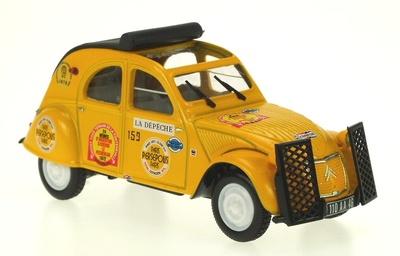 "Citroen 2cv ""Rallye Raid Persepolis"" (1971) Norev-Hachette 1/43"