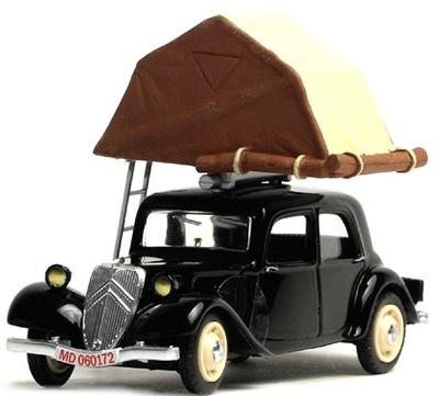 """Citroen Traction Camping Car """"Tienda de Techo"""" (1950) Eligor 1/43"""