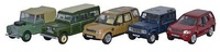 Conjunto 5 Land Rover Series, Defender, Disco, Freelander (1948-2010) Oxford 1/76