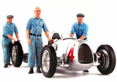 Conjunto de 3 mecánicos Auto union Figutec 1/18