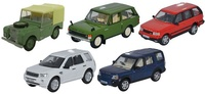 Conjunto de 5 Land Rover clásicos (1960-2000) Oxford 1/76
