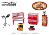 Conjunto de herramientas Auto Body Shop Busted Knuckle Garage Greenlight 1/64