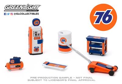 """Conjunto de herramientas de taller """"Union 76"""" Greenlight 1/64"""