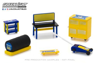 Conjunto herramientas de taller Michelin Greenlight 1/64