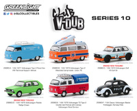 Conunto de 6 modelos Club Vee-Dub series 10 Greenlight 1/64