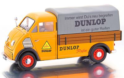 """DKW Furgoneta con caja abierta """"Dunlop"""" (1955) Premium Classixxs 1/43"""