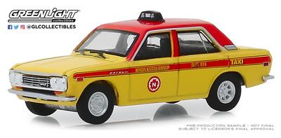 Datsun 510 Taxi de Tokio (1970) Greenlight 1/64