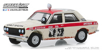 """Datsun 510 nº 89 Peter Brock """"Rallye México 1000"""" BRE (1969) Greenlight 1/64"""