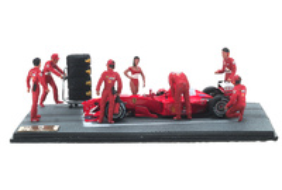 Diorama Ferrari F1-2000 "GP. Canadá" nº 3 Michael Schumacher con figuras (2000) Microworld 1:43