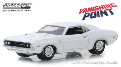 Dodge Challenger R/T de 1970 Vanishing Point (1971) Greenlight 1/64