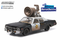 "Dodge Monaco Bluesmobile con altavoz ""Blues Brothers"" (1974) Greenlight 1/43"