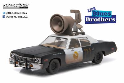 """Dodge Monaco Bluesmobile con altavoz """"Blues Brothers"""" (1974) Greenlight 1/43"""