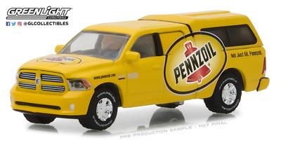 "Dodge Ram 1500 con Camper Shell Pennzoil ""Not just oil, Pennzoil"" (2014) Greenlight 1/64"