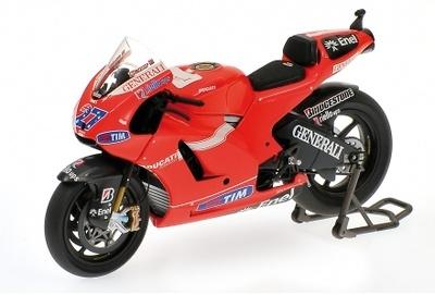 "Ducati Desmosedici GP10 ""MotoGP"" nº 27 Casey Stoner (2010) Minichamps 1/12"