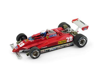 """Ferrari 126 C2 """"1º GP. San Marino"""" nº 28 Didier Pironi (1982) Brumm 1/43"""