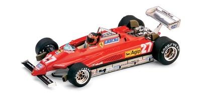 "Ferrari 126 C2 ""GP. Bélgica"" nº 27 Gilles Villeneuve (1982) Brumm 1/43"