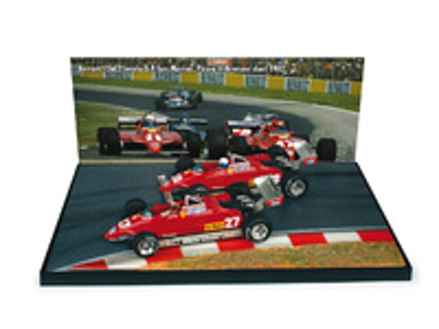 """Ferrari 126 C2 """"GP. Imola"""" Duelo Villeneuve-Pironi (1982) Brumm 1/43"""
