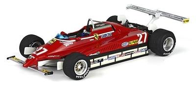 """Ferrari 126 C2 """"GP. USA West"""" nº 27 Gilles Villeneuve (1982) BBR 1/43"""