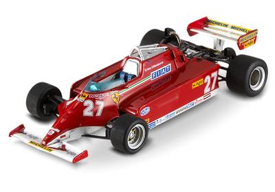 "Ferrari 126 CK ""GP. Mónaco"" nº 21 Gilles Villeneuve (1981) Hot Wheels 1/43"