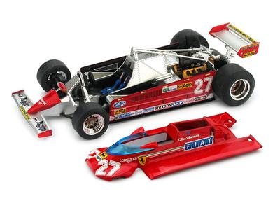 "Ferrari 126 CK ""GP. Mónaco"" nº 27 Gilles Villeneuve (1981) Brumm 1/43"