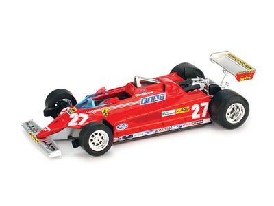 "Ferrari 126 CK ""GP. Montecarlo"" nº 27 Gilles Villeneuve (1981) Brumm R367 1/43"