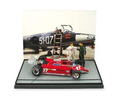 Ferrari 126 CK Turbo Gilles Villeneuve y Piloto F104 Istrana (1981) Brumm 1/43