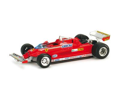 Ferrari 126 CK Turbo Test Monza Gilles Villeneuve y Didier Pironi (1981) Brumm 1/43