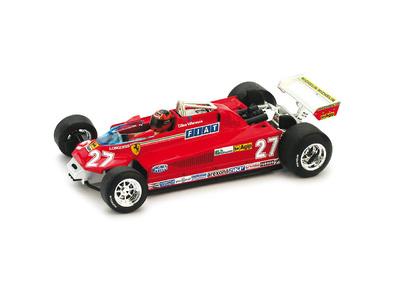 "Ferrari 126 CK turbo ""3º GP. Canadá"" Nº 27 Gilles Villeneuve (1981) Brumm 1/43"