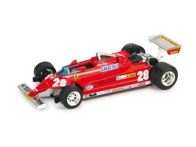"Ferrari 126 CK turbo ""4º GP. Montecarlo"" Didier Pironi (1981) Brumm 1/43"