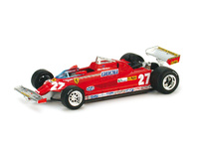 "Ferrari 126 CK turbo ""GP Italia"" nº 27 Gilles Villeneuve (1981) Brumm 1/43"