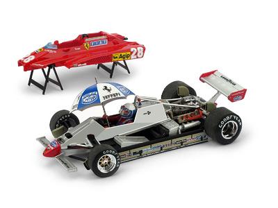 """Ferrari 126C2 turbo """"GP. San Marino"""" nº 28 Didier Pironi (1982) Brumm 1:43"""