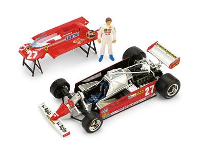 "Ferrari 126CK ""GP. Mónaco"" nº 27 Gilles Villeneuve (1981) Brumm 1/43"