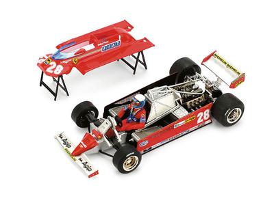 """Ferrari 126CK """"GP. Mónaco"""" nº 28 Didier Pironi (1981) Brumm 1/43"""