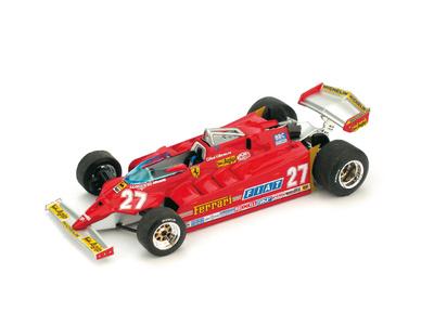 """Ferrari 126CK """"GP. USA Ovest"""" nº 27 Gilles Villeneuve (1981) Brumm 1/43"""