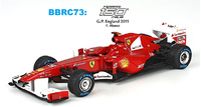 "Ferrari 150 ""1º GP. Gran Bretaña"" nº 5 Fernando Alonso (2011) BBR 1/43"