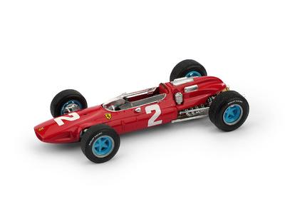 """Ferrari 158 F1 """"1º GP. Italia"""" nº 2 John Surtees (1964) Brumm 1/43"""