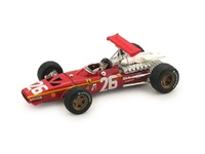 """Ferrari 312 F1 """"1º GP Francia"""" nº 26 Jacky Ickx (1968) Brumm 1/43"""