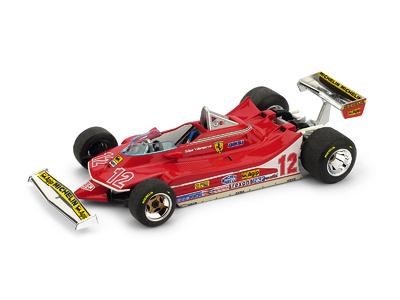 """Ferrari 312 T4 """"GP. Francia"""" nº 12 Gilles Villeneuve (1979) Brumm 1:43"""