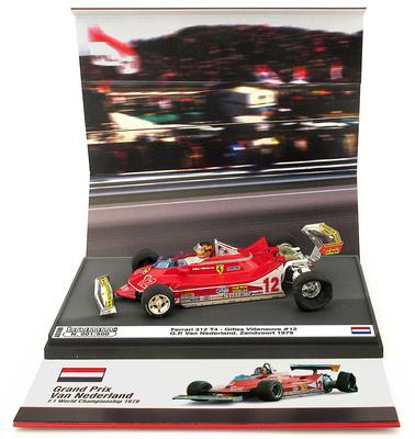 "Ferrari 312 T4 ""GP. Holanda"" nº 12 Gilles Villeneuve (1979) Brumm 1:43"