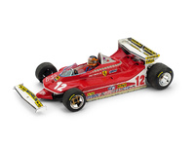 "Ferrari 312 T4 ""GP. Mónaco"" nº 12 Gilles Villeneuve (1979) Brumm 1:43"