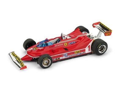 """Ferrari 312 T5 """"GP. Argentina"""" nº 1 Jody Scheckter (1980) Brumm 1:43"""