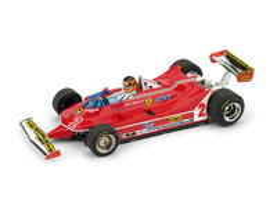 "Ferrari 312 T5 ""GP. Brasil"" nº 2 Gilles Villeneuve (1980) Brumm 1:43"