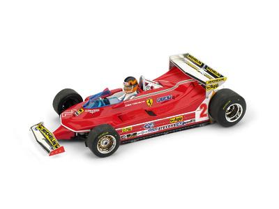 "Ferrari 312 T5 ""GP. Mónaco"" nº 2 Gilles Villeneuve (1980) Brumm 1:43"