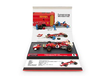 """Ferrari 312B """"1º GP. Italia"""" nº 4 Clay Regazzoni (1970) Brumm 1:43"""